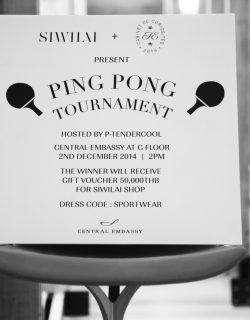 P. Tendercool Ping Pong Tournament #CDCTE