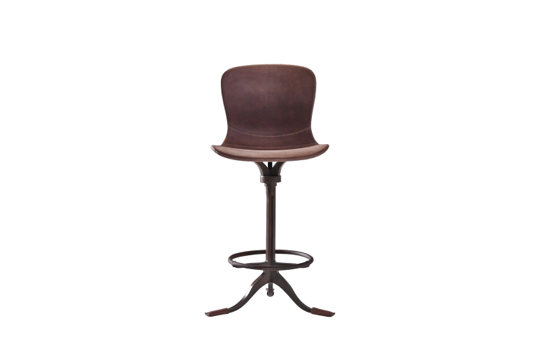 PT473 Counter Height Chair + Swivel + Footrest Ring